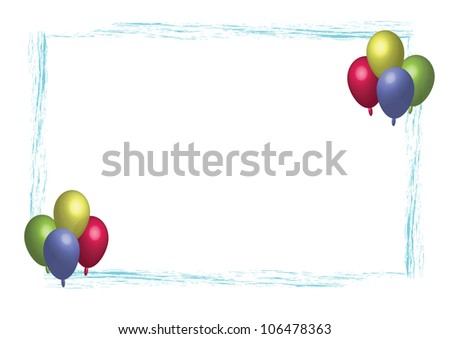 Party balloon frame