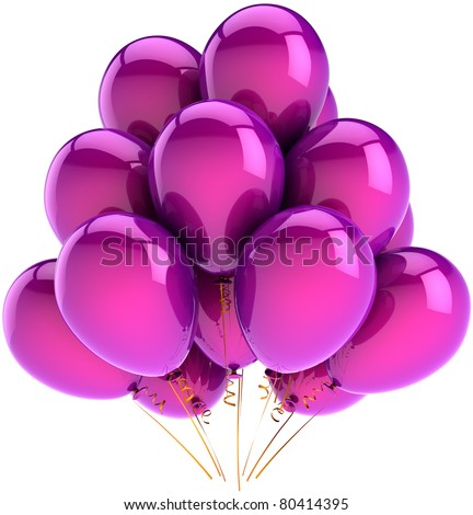 Purple Balloons Stock Images, Royalty-Free Images ...