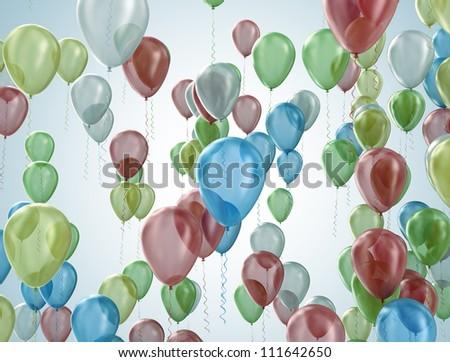 Party balloons celebration concept - stock photo