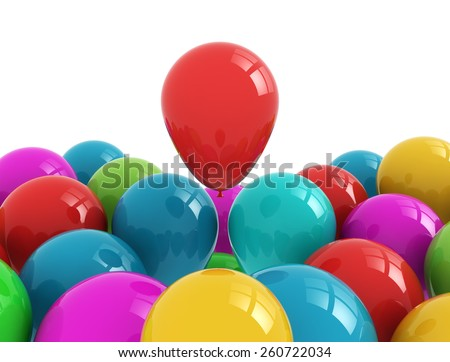 Party balloons multi color isolated on white background  - stock photo