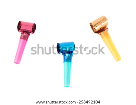 Party blowers - stock photo