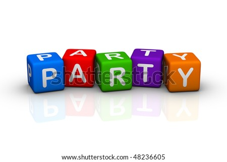 party (colorful cubes words series)