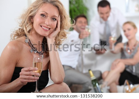 party couples - stock photo