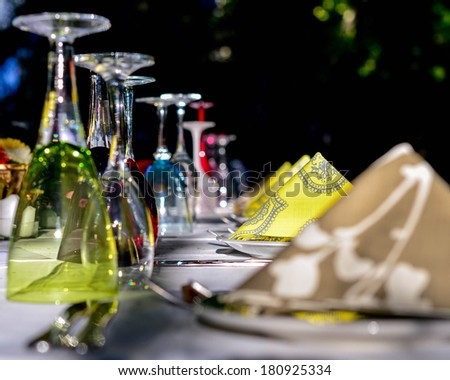 Party dinner table  - stock photo