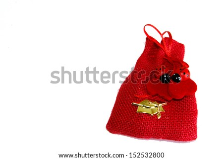 Party favor with ladybug - stock photo