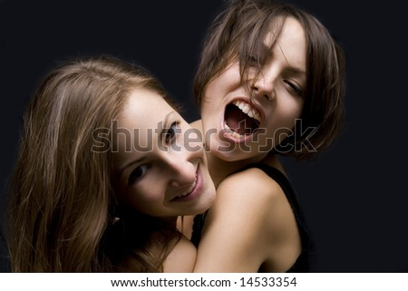 Party girls - stock photo
