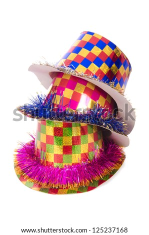 Party hats isolated on the white - stock photo