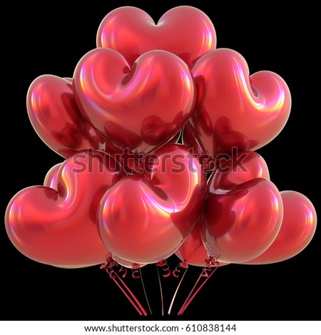 Schön Party Heart Balloons Red Happy Birthday Love Event Decoration Glossy.  Valentineu0027s Day Holiday Anniversary Celebrate