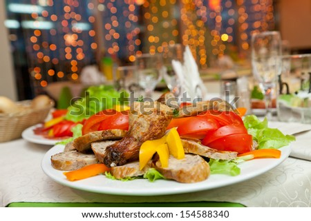 party in the restaurant - stock photo