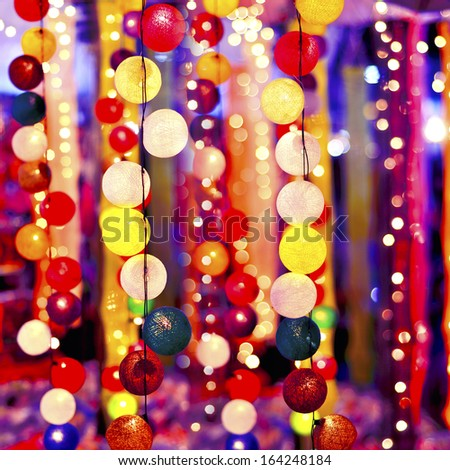 Party night with a light ball. - stock photo