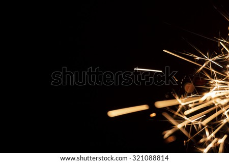 Party sparkler background close up macro - stock photo