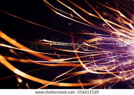 Party sparkler close up - stock photo