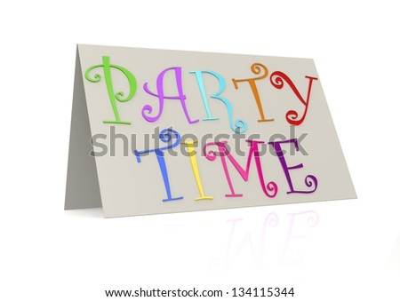 Party time with folded paper - stock photo