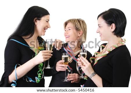 party trio 1 - stock photo