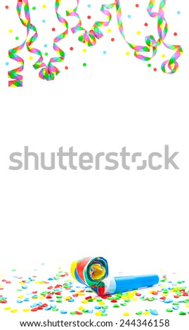 Party utensils. All on white background - stock photo