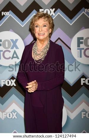 PASADENA, CA - JAN 8:  Cloris Leachman attends the FOX TV 2013 TCA Winter Press Tour at Langham Huntington Hotel on January 8, 2013 in Pasadena, CA - stock photo
