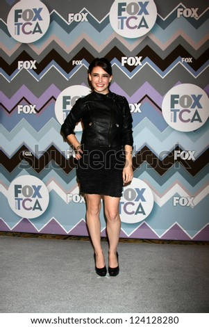 PASADENA, CA - JAN 8:  Daniela Bobadilla attends the FOX TV 2013 TCA Winter Press Tour at Langham Huntington Hotel on January 8, 2013 in Pasadena, CA - stock photo