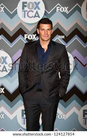 PASADENA, CA - JAN 8:  David  Boreanaz attends the FOX TV 2013 TCA Winter Press Tour at Langham Huntington Hotel on January 8, 2013 in Pasadena, CA - stock photo