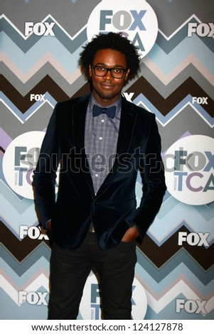PASADENA, CA - JAN 8:  Echo Kellum attends the FOX TV 2013 TCA Winter Press Tour at Langham Huntington Hotel on January 8, 2013 in Pasadena, CA - stock photo