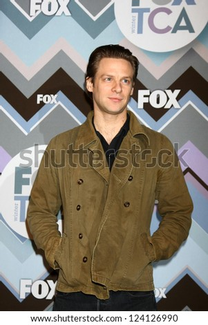 PASADENA, CA - JAN 8:  Jacob Pitts attends the FOX TV 2013 TCA Winter Press Tour at Langham Huntington Hotel on January 8, 2013 in Pasadena, CA - stock photo