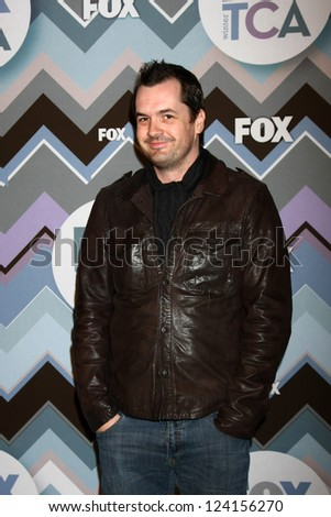 PASADENA, CA - JAN 8:  Jim Jefferies attends the FOX TV 2013 TCA Winter Press Tour at Langham Huntington Hotel on January 8, 2013 in Pasadena, CA - stock photo