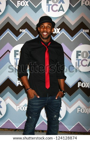 PASADENA, CA - JAN 8:  Stephen Boxx, aka Twitch attends the FOX TV 2013 TCA Winter Press Tour at Langham Huntington Hotel on January 8, 2013 in Pasadena, CA - stock photo