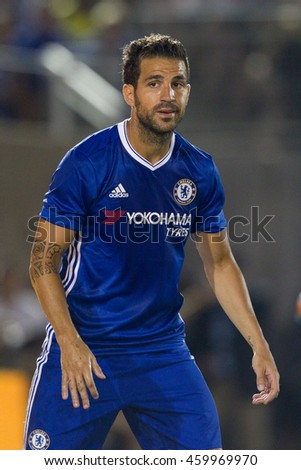 PASADENA, CA - JULY 27: Cesc Fabregas during the 2016 ICC game between Chelsea & Liverpool on July 27th 2016 at the Rose Bowl in Pasadena, Ca.