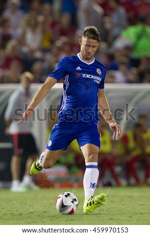 PASADENA, CA - JULY 27: Gary Cahill during the 2016 ICC game between Chelsea & Liverpool on July 27th 2016 at the Rose Bowl in Pasadena, Ca.