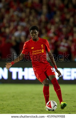 PASADENA, CA - JULY 27: Ovie Ejaria during the 2016 ICC game between Chelsea & Liverpool on July 27th 2016 at the Rose Bowl in Pasadena, Ca.