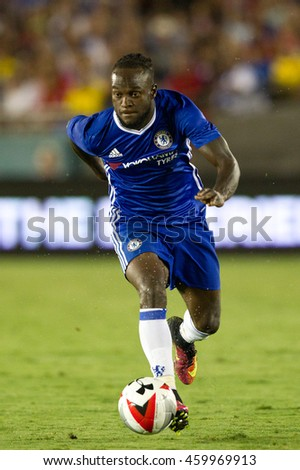 PASADENA, CA - JULY 27: Victor Moses during the 2016 ICC game between Chelsea & Liverpool on July 27th 2016 at the Rose Bowl in Pasadena, Ca.