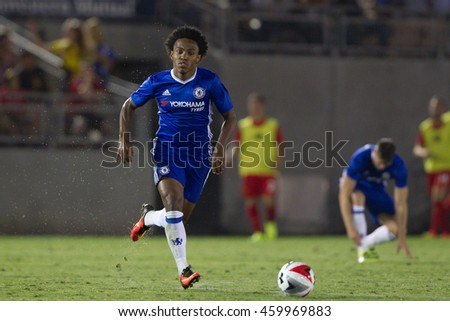 PASADENA, CA - JULY 27: Willian during the 2016 ICC game between Chelsea & Liverpool on July 27th 2016 at the Rose Bowl in Pasadena, Ca.