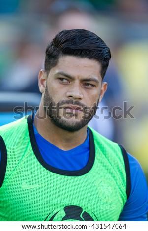 PASADENA, CA - JUNE 4: Hulk during the COPA America game between Brazil & Ecuador on June 4th 2016 at the Rose Bowl in Pasadena, Ca. - stock photo