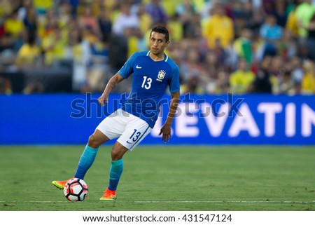 PASADENA, CA - JUNE 4: Marquinhos during the COPA America game between Brazil & Ecuador on June 4th 2016 at the Rose Bowl in Pasadena, Ca.