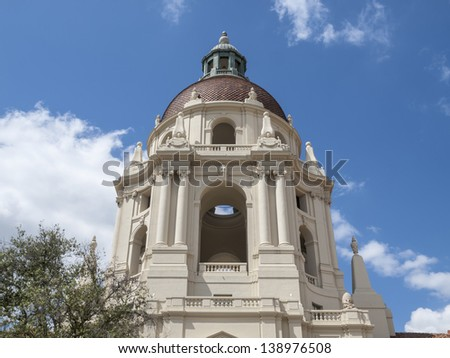 Pasadena city hall cupola dome in southern California. - stock photo