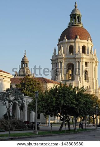 Pasadena City Hall. Pasadena, California, USA. - stock photo