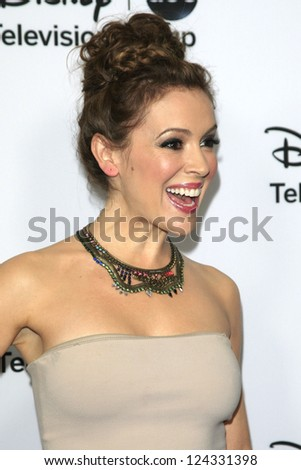PASADENA - JAN 10: Alyssa Milano at the Disney ABC Television Group 2013 TCA Winter Press Tour at The Langham Huntington Hotel on January 10, 2013 in Pasadena, CA