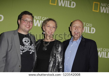 PASADENA - JAN 3: Dr Pol, wife, son of the show 'The Incredible Dr Pol' at the National Geographic Channels TCA party on January 3, 2013 at the Langham Hotel in Pasadena, California - stock photo