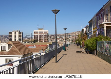 Paseo Atkinson. A promenade in the Concepcion district of Valparaiso in Chile that provides an excellent vantage point for looking out over the city and harbour.