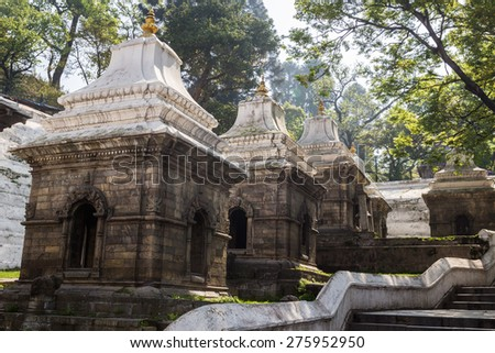 Pashupatinath a famous, sacred Hindu temple. - stock photo