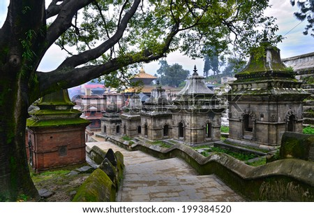 Pashupatinath temple complex on Bagmati River in Kathmandu Valley, Nepal