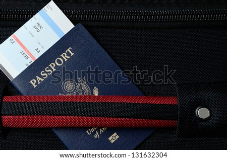 pasport and bording pass - stock photo