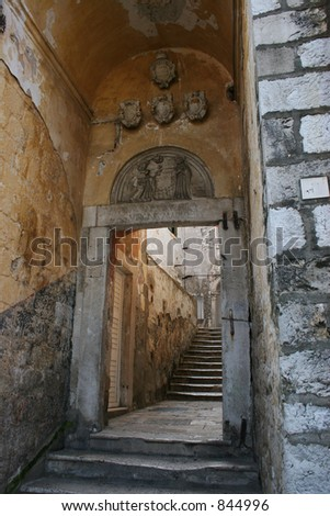 Passageway in Dubrovnik,Croatia. - stock photo