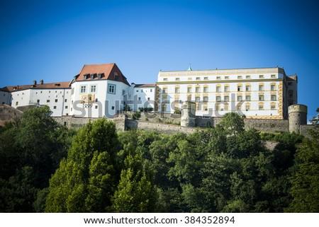 Passau fortress - stock photo
