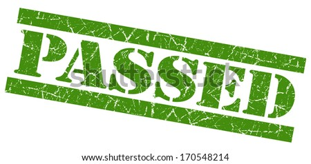 Passed grunge green stamp - stock photo