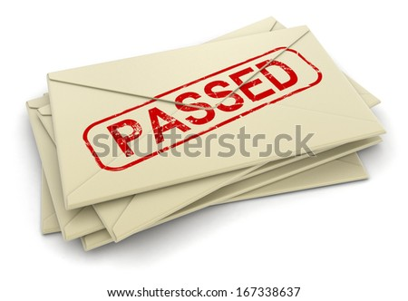 Passed letters  (clipping path included)
