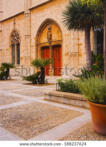 Passeig de Sagrera in Palma de Mallorca, Balearic Islands, Spain - stock photo