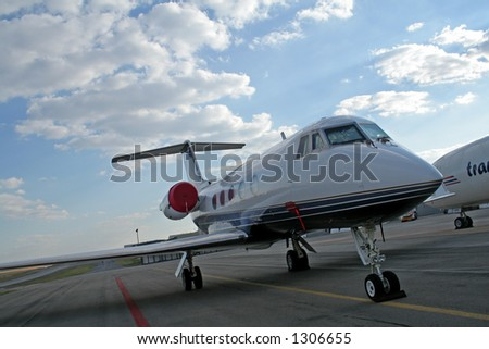 Passenger airplane - stock photo