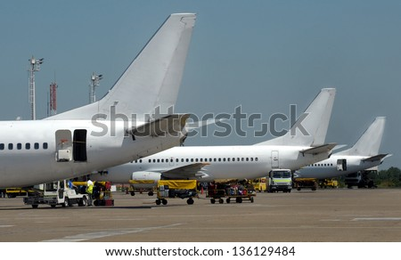 Passenger planes - stock photo