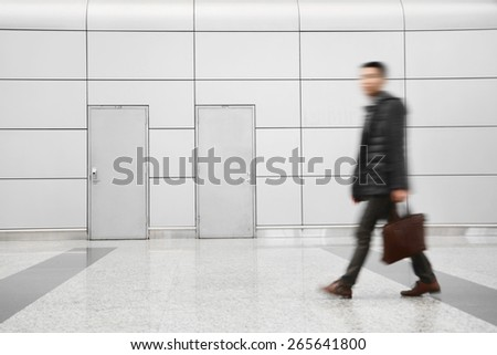 Passengers in Airport  - stock photo