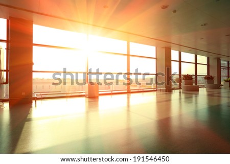 Passengers Modern Airport Interior Glass Wall Stock Photo (Royalty ...